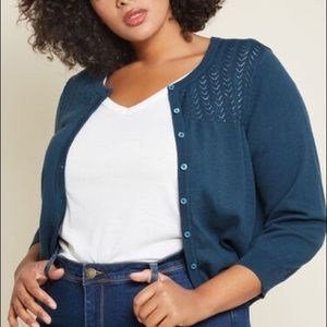 ModCloth Pointelle Perfection Cropped Cardigan